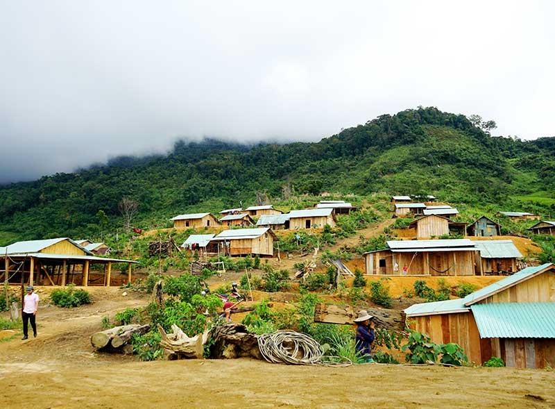 Hàng chục khu định cư mới được sắp xếp, ổn định cuộc sống cho đồng bào miền núi huyện Nam Trà My. Ảnh: NGƯỚC CÔNG