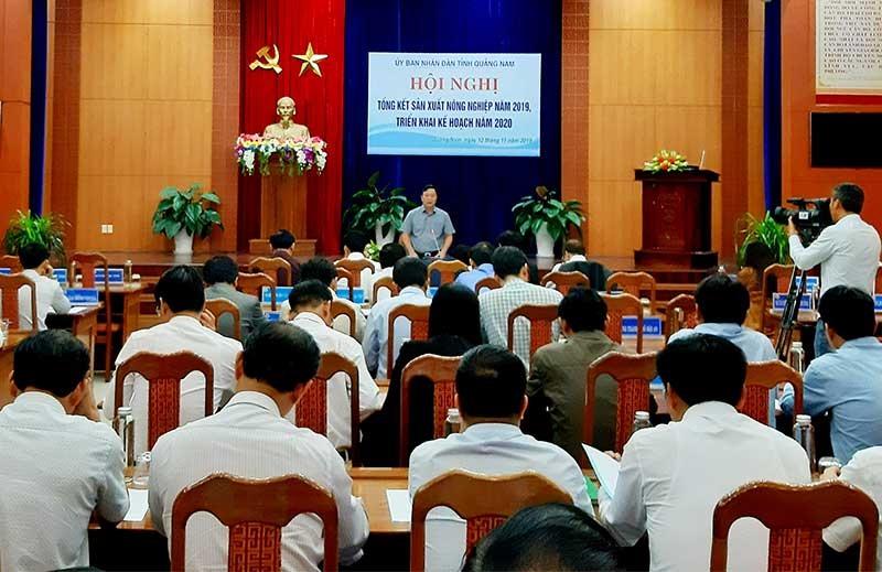 Đồng chí Lê Trí Thanh - Phó Bí thư Tỉnh ủy, Phó Chủ tịch UBND tỉnh phát biểu chỉ đạo tại hội nghị. Ảnh: VĂN SỰ