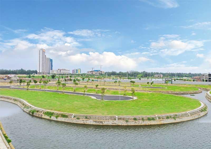 Hạ tầng kỹ thuật dự án khu đô thị Đất Quảng Riverside đã hoàn thiện.