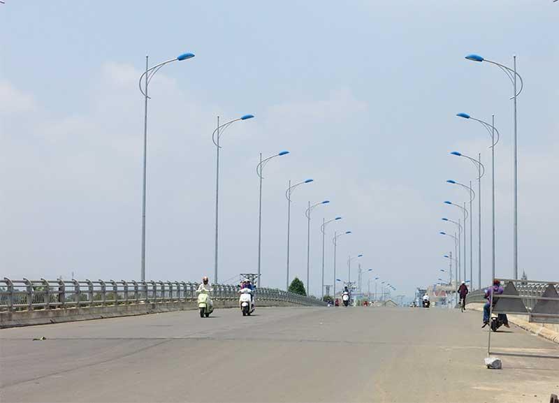 Đường Điện Biên Phủ nối 129 lên đường cao tốc Đà Nẵng - Quảng Ngãi là một trong những dự án giải ngân không đạt tiến độ so với kế hoạch. Ảnh: T.D