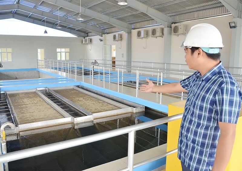 Các dự án đầu tư nước sạch tập trung như thế này trên địa bàn tỉnh khá ít. TRONG ẢNH: Nhà máy nước BOO Phú Ninh. Ảnh: T.H