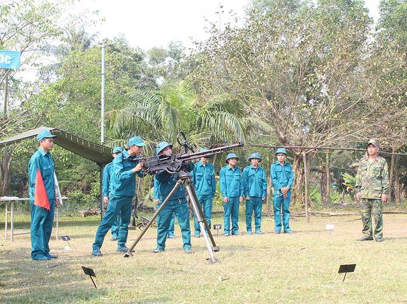 Huyện Núi Thành luôn chăm lo xây dựng lực lượng vũ trang của huyện vững mạnh toàn diện. Ảnh: TUẤN ANH