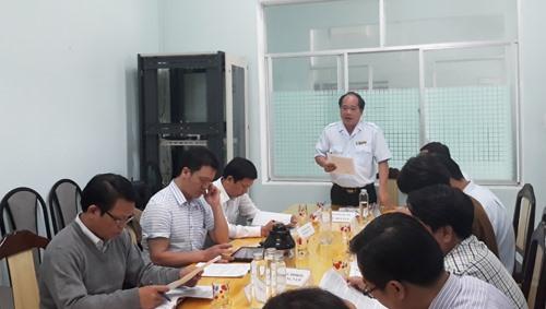 Chánh Thanh tra tỉnh Trần Minh Thái kết luận cuộc đối thoại. Ảnh: X.P