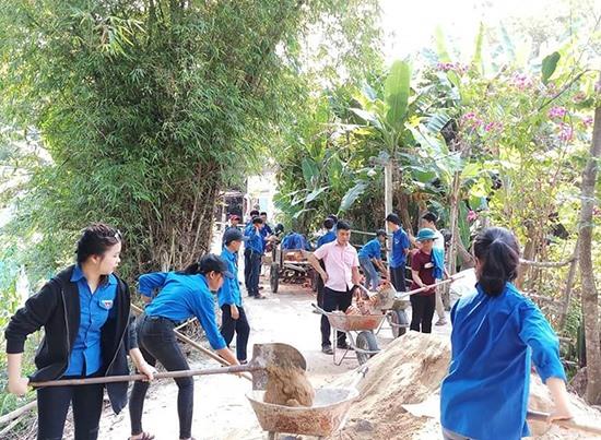 Nhiều mô hình, nội dung hướng về cộng đồng được các đoàn viên thanh niên huyện Quế Sơn triển khai hiệu quả. Ảnh: H.P