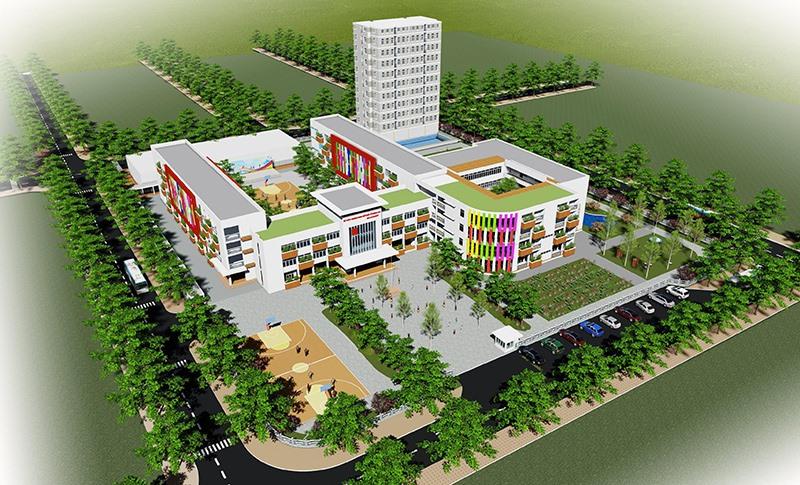 Mô hình trường học Quảng Nam Academy được xây dựng tại Khu dân cư Tây An Hà Quảng Phú. Ảnh: H.Q