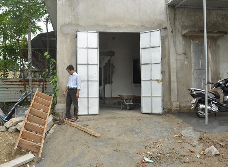 UBND TP.Tam Kỳ không cho phép gia đình ông Nguyễn Duy Nghị sửa chữa, cải tạo nhà ở tại thửa đất số 84, tờ bản đồ số 24. Ảnh. N.Đ