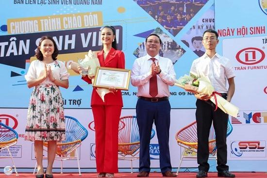 Á hậu cuộc thi Hoa hậu thế giới Việt Nam 2019 Nguyễn Thị Kiều Loan cũng tham dự chương trình. Ảnh: H.P
