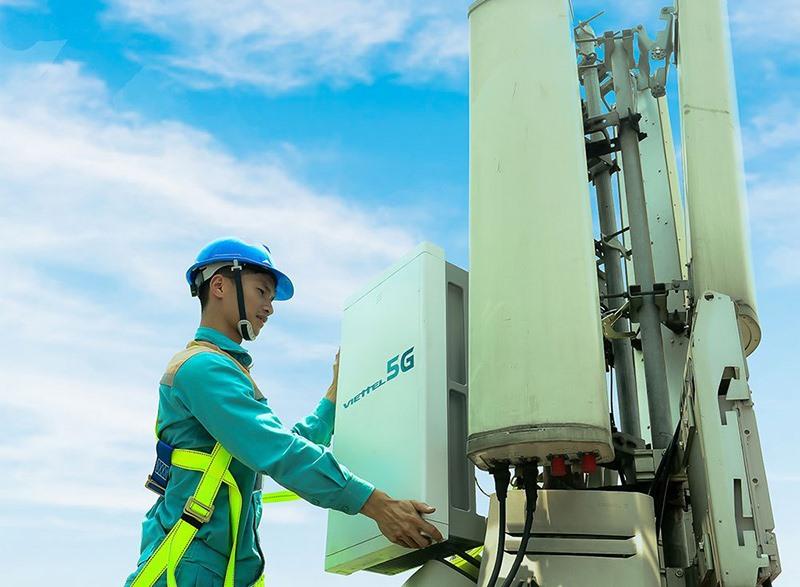 Trạm 5G đầu tiên được Viettel triển khai tại Việt Nam. (Ảnh: Viettel)