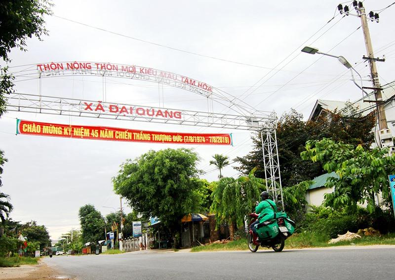 Diện mạo nông thôn mới xã Đại Quang đã có nhiều khởi sắc. Ảnh: T.C