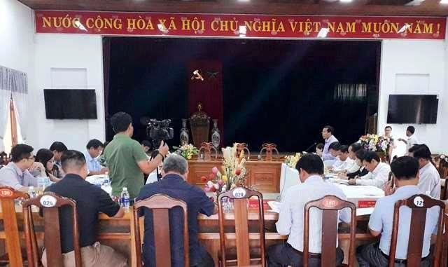 HĐND tỉnh làm việc với huyện Tây Giang về cơ chế, chính sách phát triển cây dược liệu và lâm sản ngoài gỗ. Ảnh: B.L