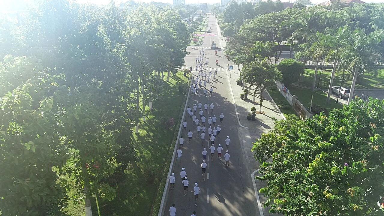 Đường chạy của vận động viên.