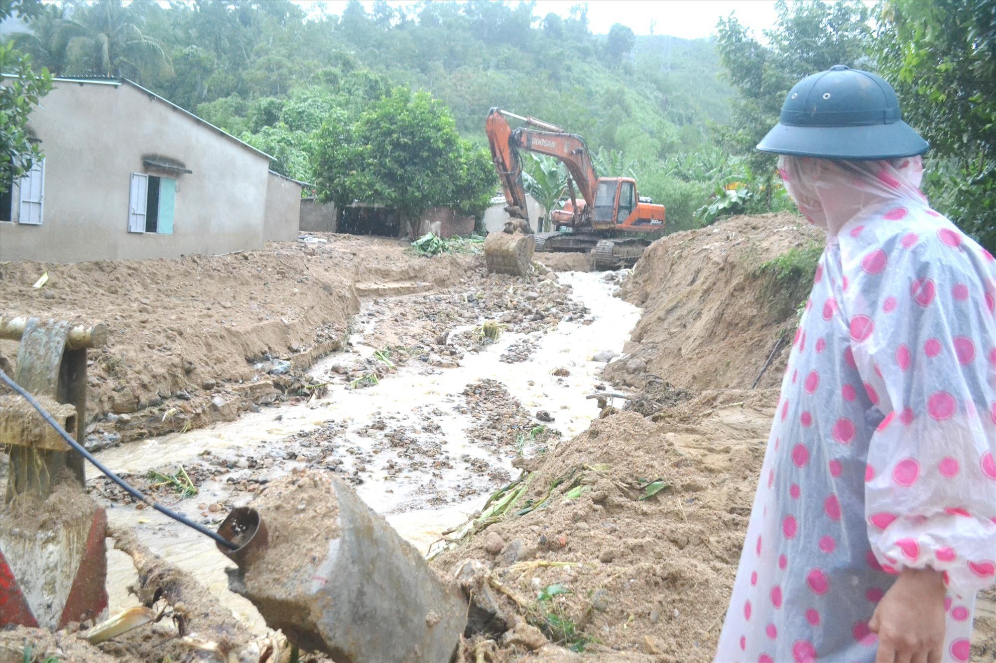 Do ảnh hưởng áp thấp nhiệt đới, các địa phương tại Quảng Nam có mưa lớn trên điện rộng, cần đề phòng lũ quét, sạt lở. Ảnh: C.T
