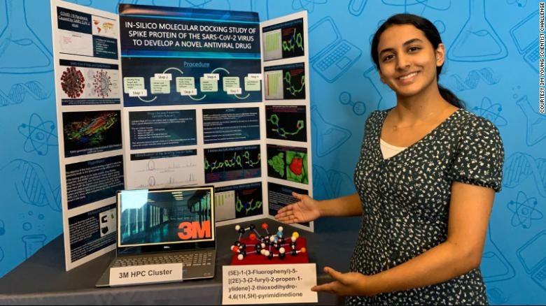 Anika Chebrolu, một tài năng khoa học trẻ. Ảnh: CNN