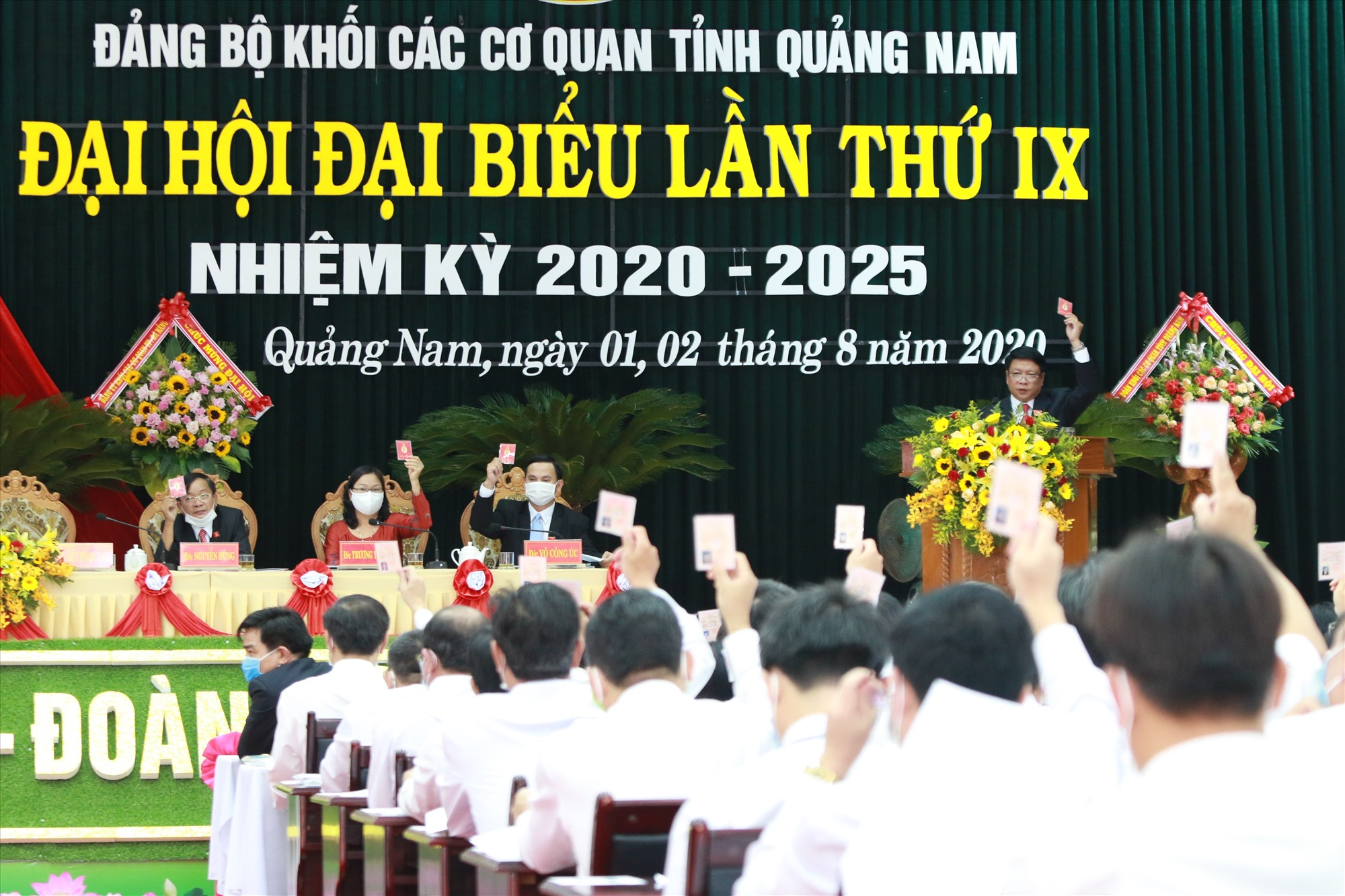 Kết quả đại hội Đảng cấp cơ sở và cấp trên cơ sở của tỉnh nhận được sự đồng thuận cao của cấp ủy, cán bộ, đảng viên và Nhân dân. Ảnh: N.Đ