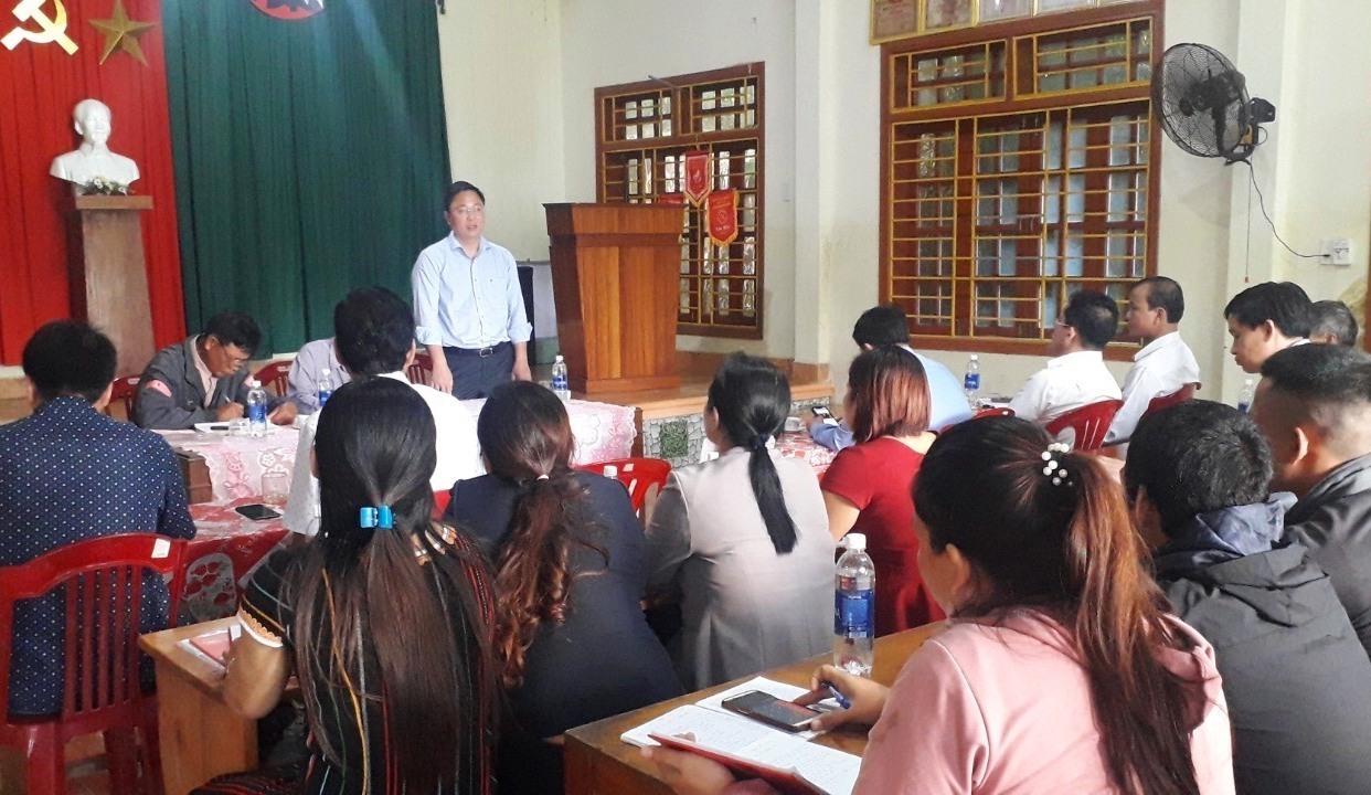 Đ/c Lê Trí Thanh- Chủ tịch UBND tỉnh phát biểu tại buổi sinh hoạt.