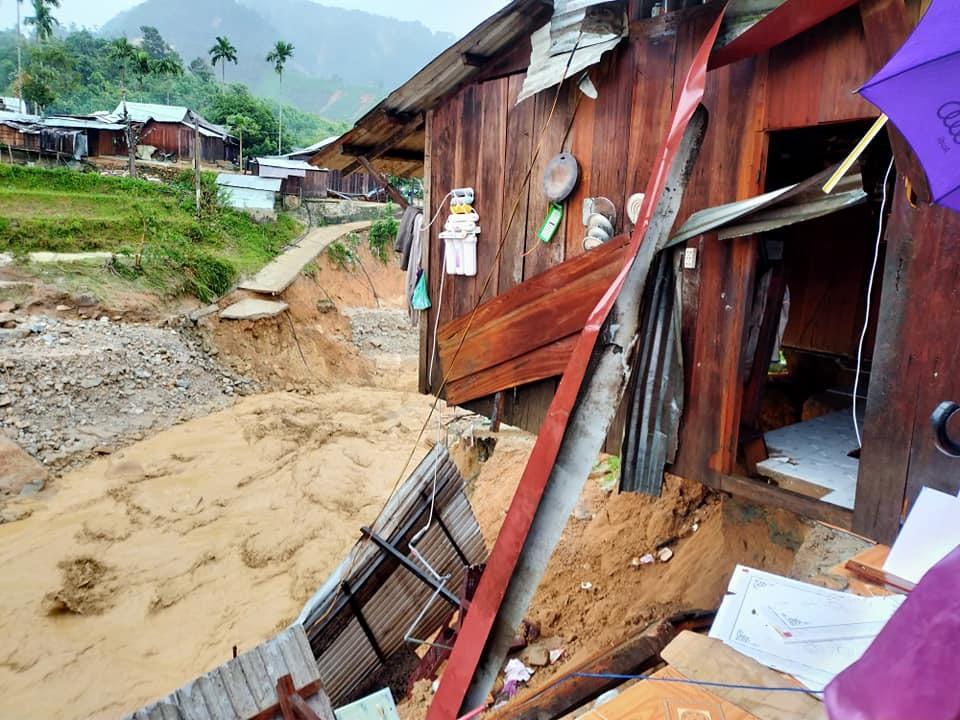 Mưa lũ gây thiệt hại hơn 90 tỷ đồng ở Phước Thành. Ảnh: T.C