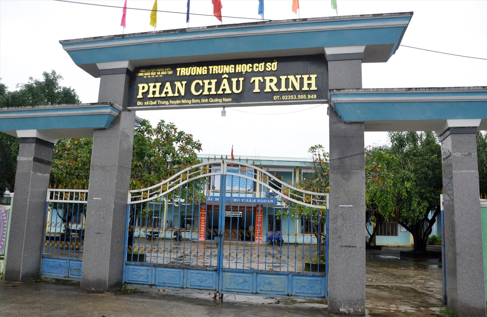 Trường THCS Phan Châu Trinh - nơi cô Ngô Thị Liên Hòa giảng dạy. Ảnh: X.P