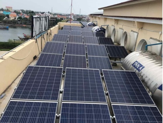 Solar batteries for home installed in Hoi An
