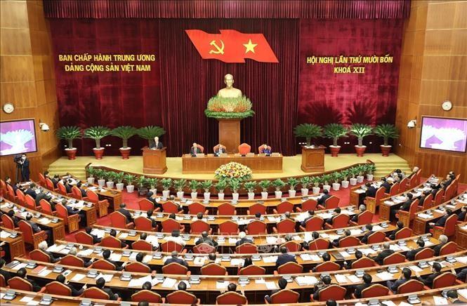 Toàn cảnh Hội nghị lần thứ 14 Ban Chấp hành Trung ương. Ảnh: Trí Dũng/TTXVN