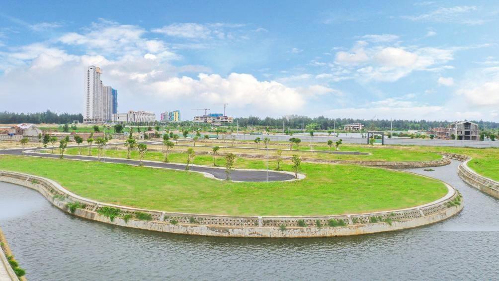 Tổng quan thực tế dự án Đất Quảng Riverside tại phường Điện Ngọc, thị xã Điện Bàn.Ảnh: N.T.B