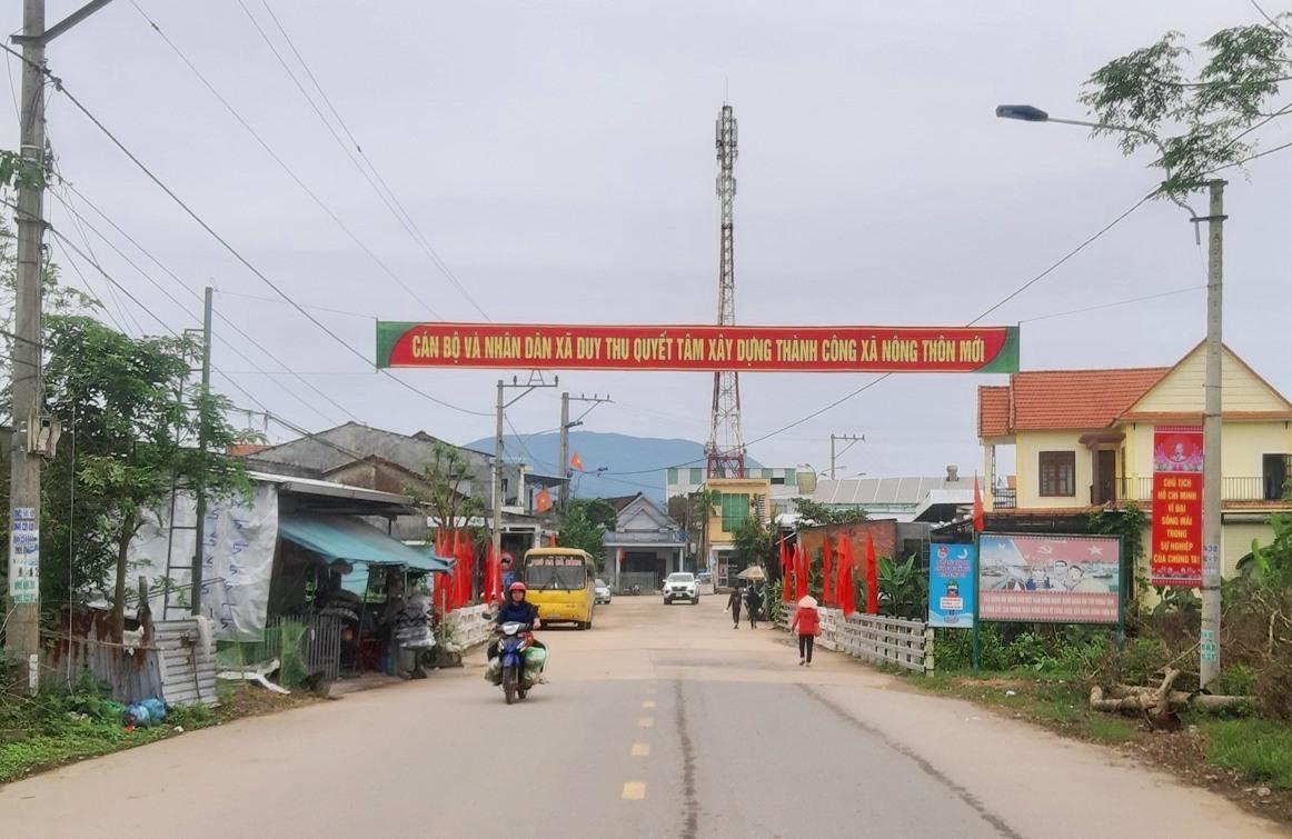 Xây dựng NTM tại huyện Duy Xuyên. Ảnh: P.T