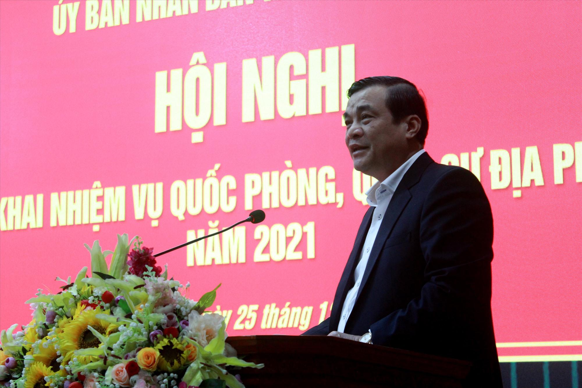 Bí thư Tỉnh ủy Phan Việt Cường phát biểu tại hội nghị. Ảnh: T.C