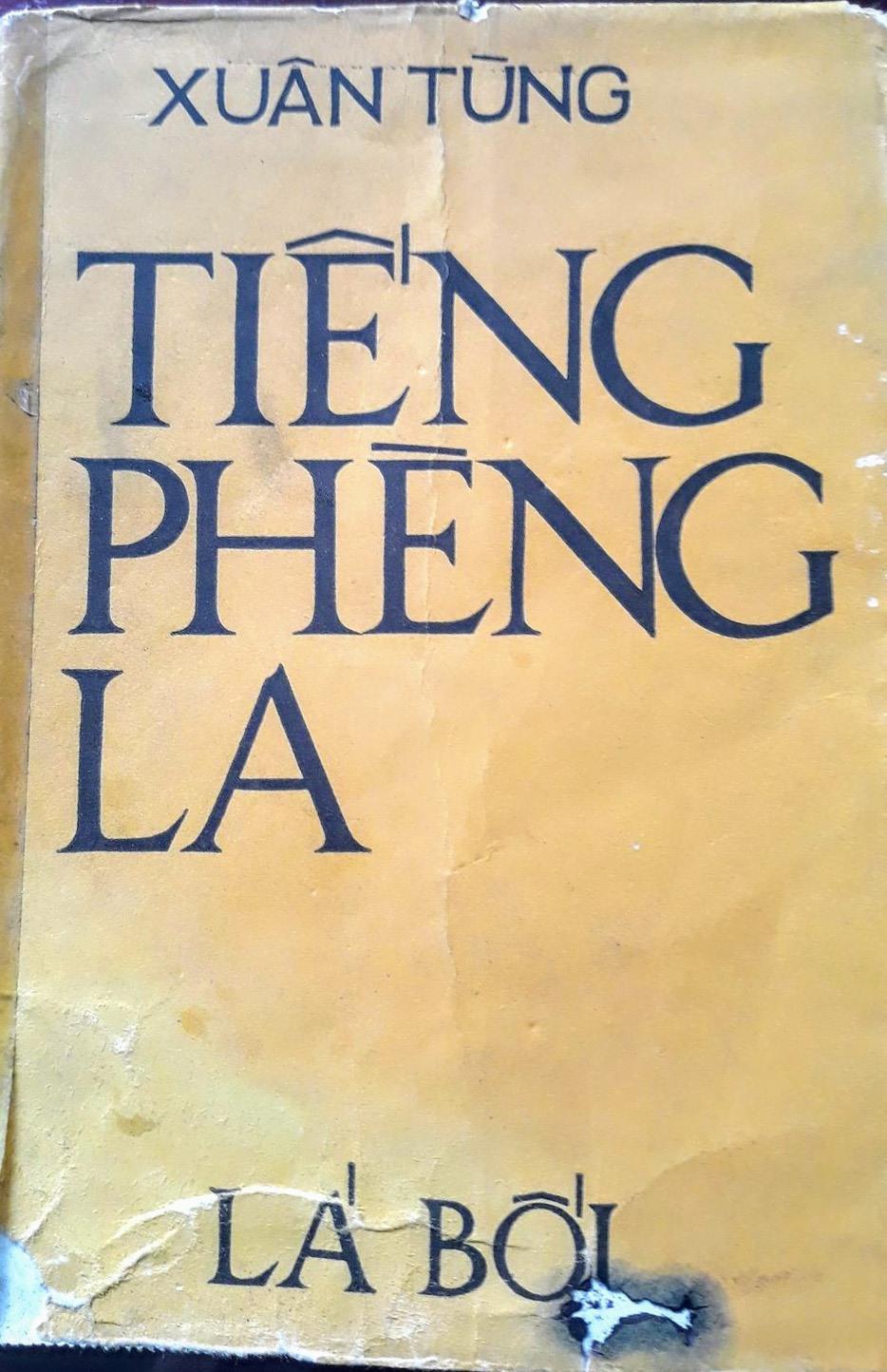 """Bìa tập truyện """"Tiếng phèng la"""" in năm 1971. Ảnh: B.A"""