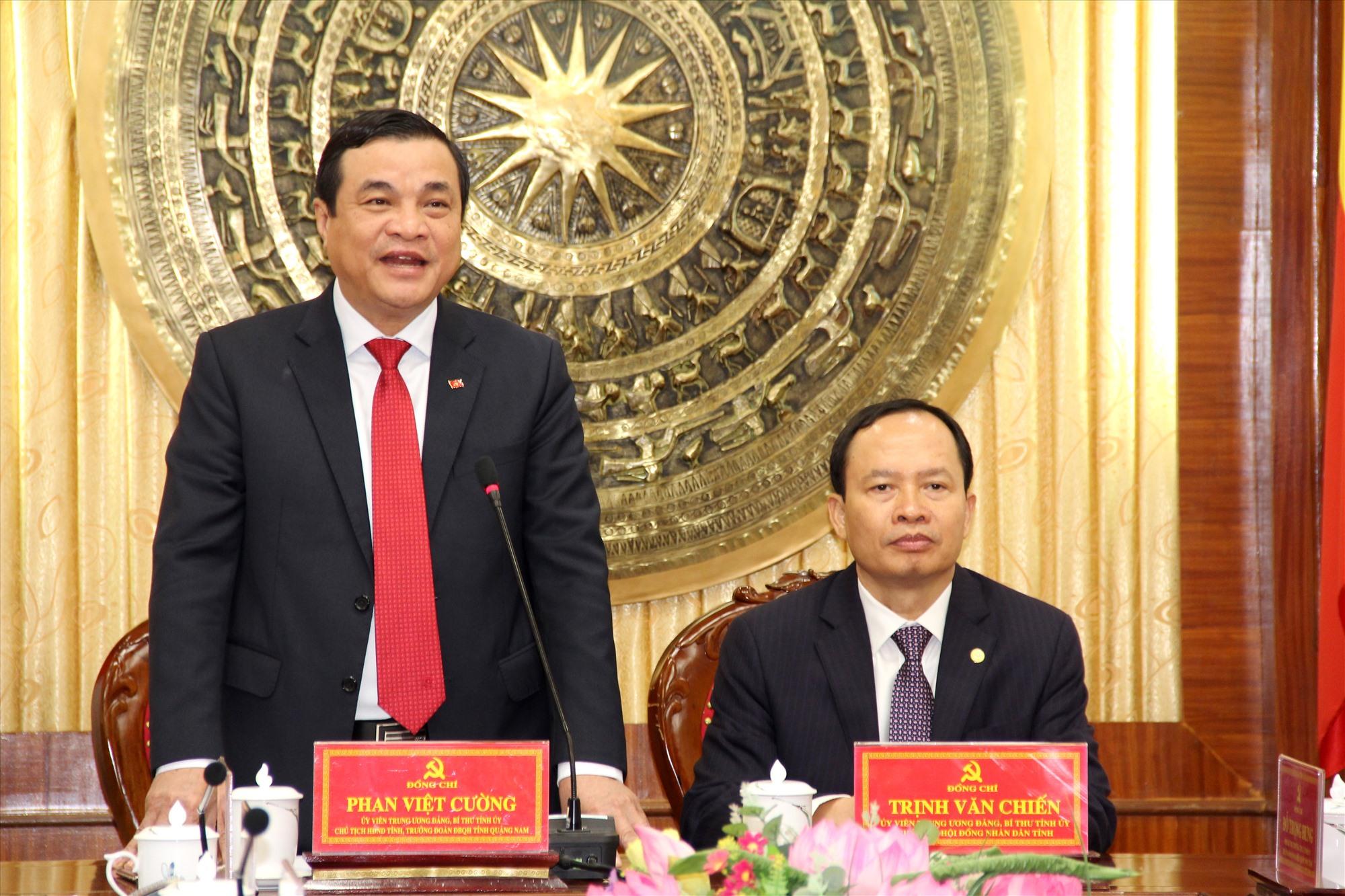 Bí thư Tỉnh ủy Phan Việt Cường phát biểu tại cuộc họp. Ảnh: A.N
