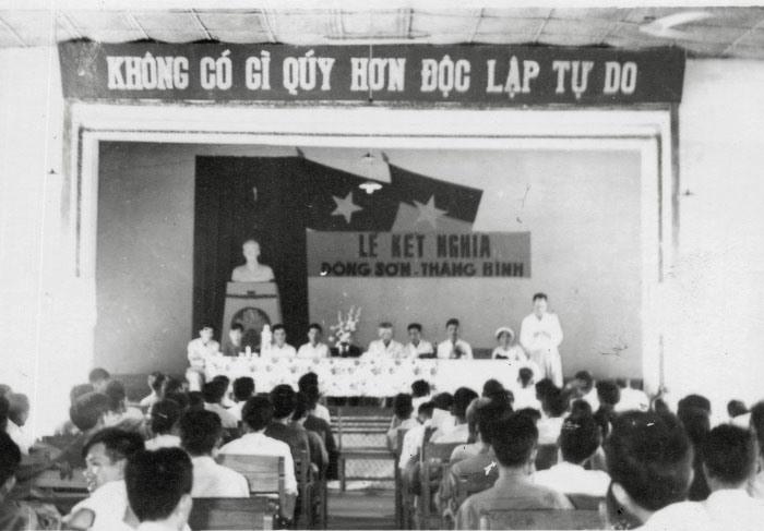 Quang cảnh Lễ kết nghĩa Đông Sơn - Thăng Bình năm 1960.