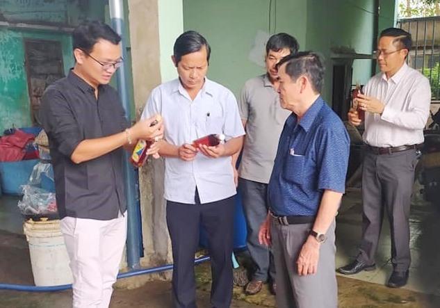 Nhiều hộ nông dân ở Điện Bàn đã phát triển cơ sở sản xuất nhờ nguồn vốn vay từ ngân hàng Chính sách xã hội. Ảnh: H.T
