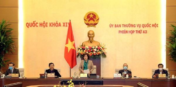Phiên họp thứ 43 của Ủy ban Thường vụ Quốc hội