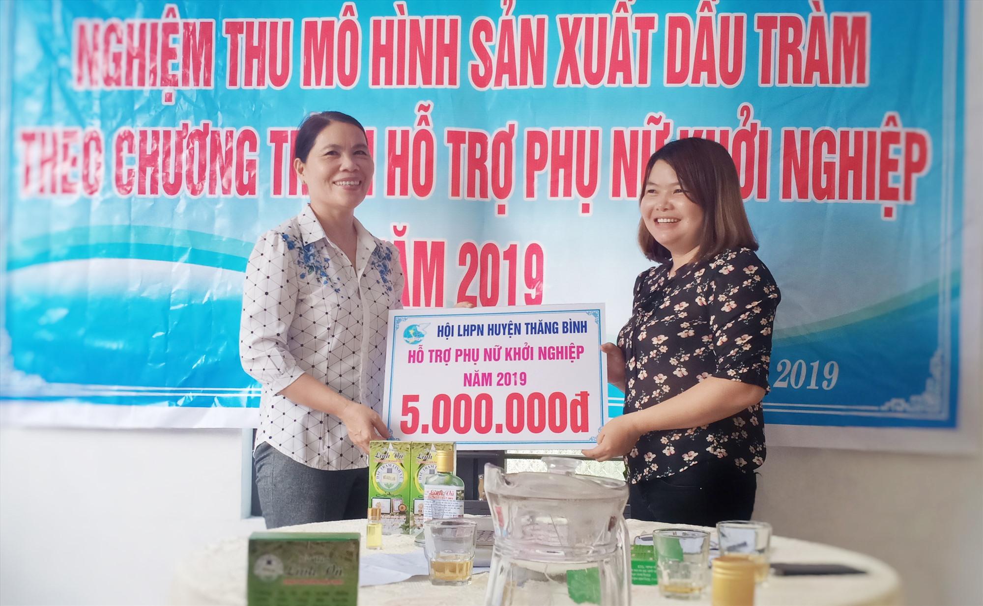 Nhiều năm qua, Hội LHPN Thăng Bình tích cực hỗ trợ hội viên phát triển kinh tế. Ảnh: Giang Biên