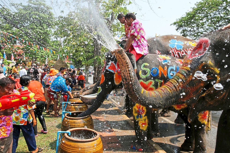 Lễ hội té nước đón năm mới tại Thái Lan vào năm ngoái. Ảnh: Reuters
