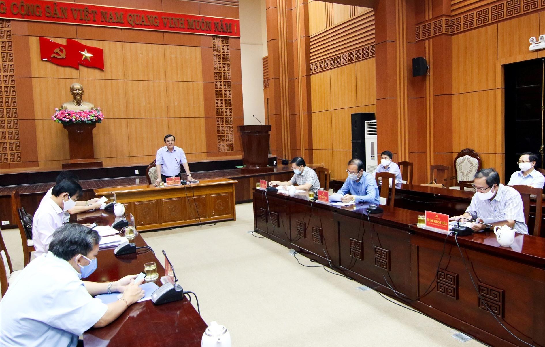 Bí thư Tỉnh ủy Phan Việt Cường kết luận tại buổi làm việc