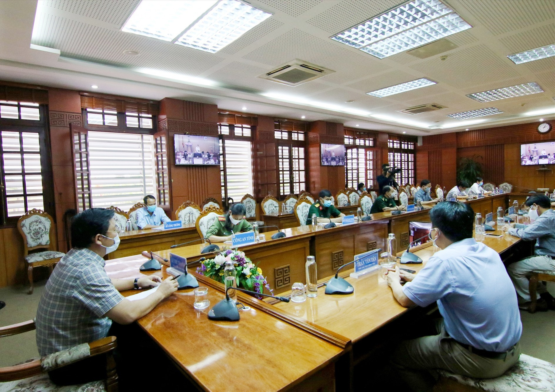 Quang cảnh hội nghị tại đầu cầu Quảng Nam.