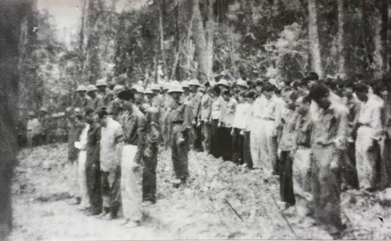 Lễ truy điệu Bác Hồ do Khu ủy 5 tổ chức ngày 9.9.1969 tại Sông Thanh, huyện Nam Giang, tỉnh Quảng Nam (ảnh tư liệu).