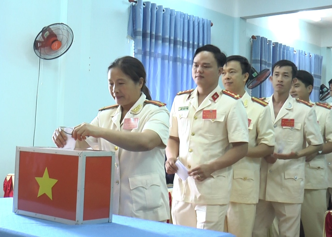 Bầu Ban chấp hành Đảng bộ Công an huyện Thăng Bình khóa X