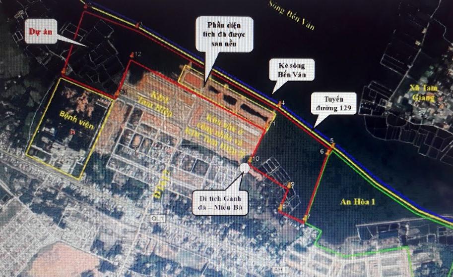 Dự án Khu đô thị sinh thái An Hòa 1 và 2 nằm bên trong tuyến đường 129 và kè sông Bến Ván.