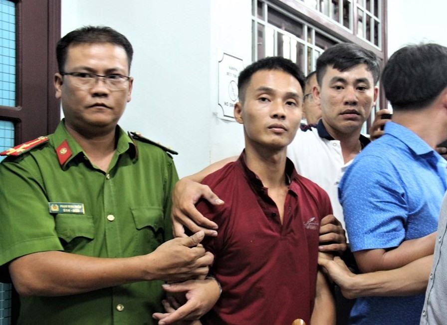 Đối tượng Triệu Quân Sự bị bắt vào tối 18.6 tại TP.Tam Kỳ. Ảnh: THU SƠN