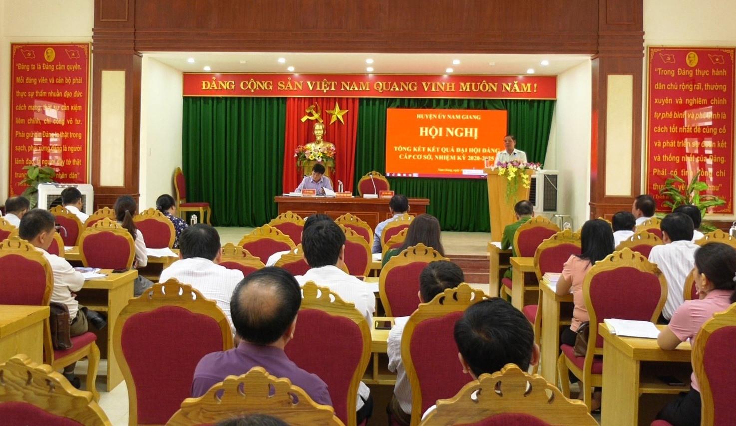 Huyện ủy Nam Giang tổ chức hội nghị tổng kết kết quả đại hội cấp cơ sở nhiệm kỳ 2020 - 2025.