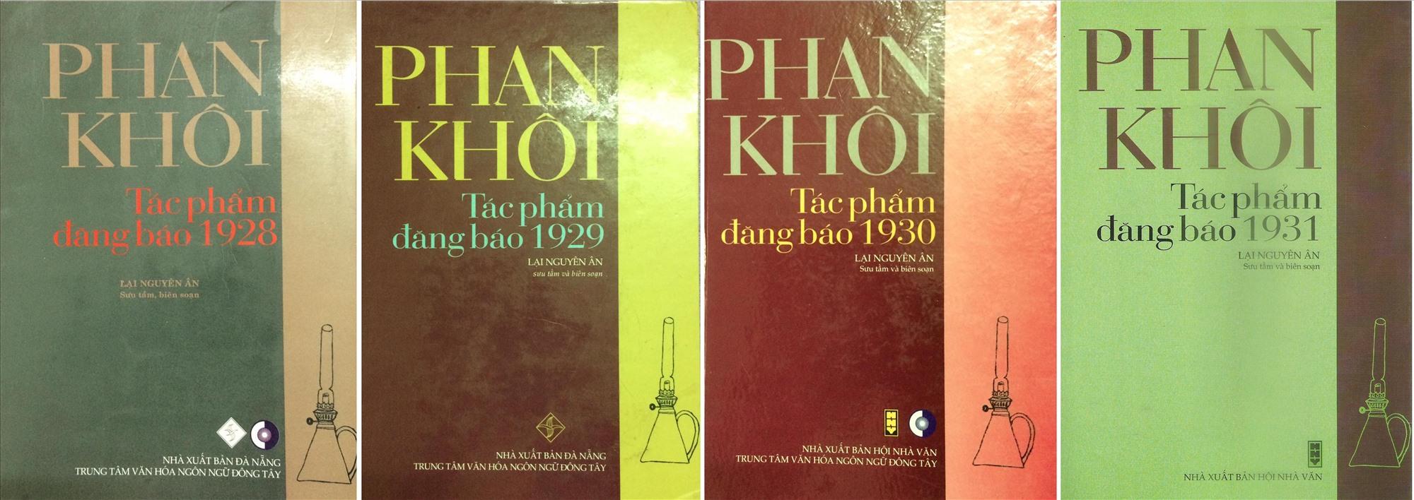 Một vài cuốn trong bộ sách Phan Khôi - Tác phẩm đăng báo do nhà nghiên cứu Lại Nguyên Ân thực hiện.