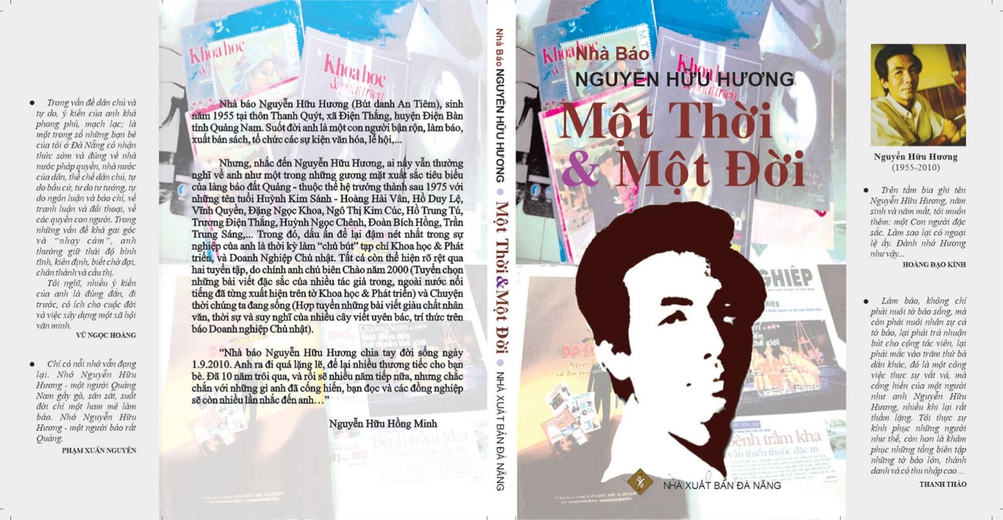"""Tập sách """"Nhà báo Nguyễn Hữu Hương - Một thời và một đời""""."""