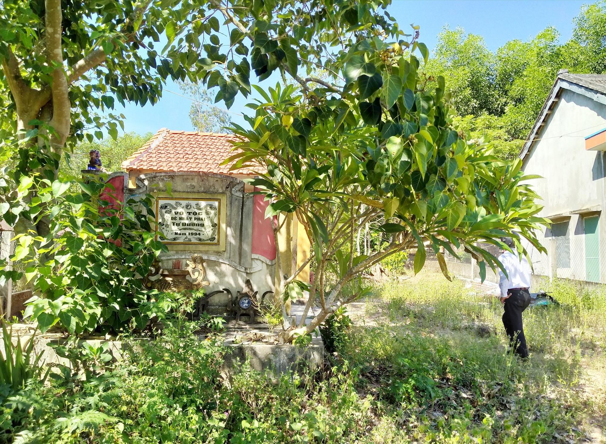 Diện tích đất có nhà thờ từ đường tộc Võ phái nhất đã được cấp sổ đỏ cho vợ chồng bà Hoàng Thị Ngọc Ánh. Ảnh: N.Đ