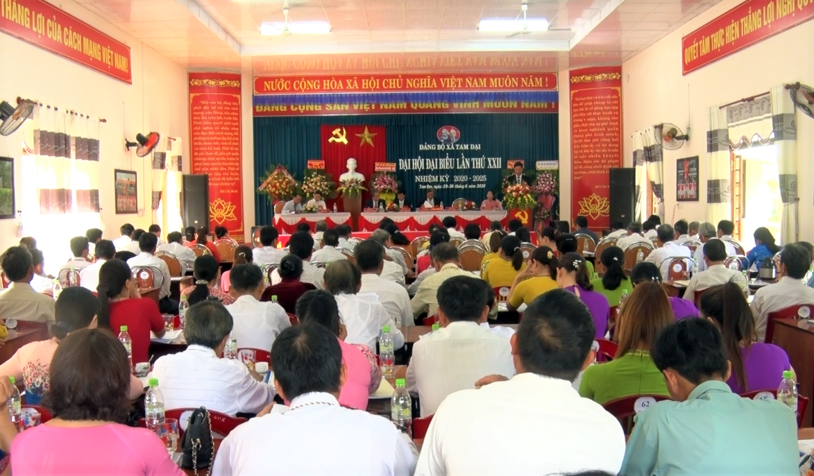 Xã Tam Đại hoàn thành tổ chức Đại hội đại biểu Đảng bộ lần thứ XXII (nhiệm kỳ 2020 - 2025). Ảnh: Q.V