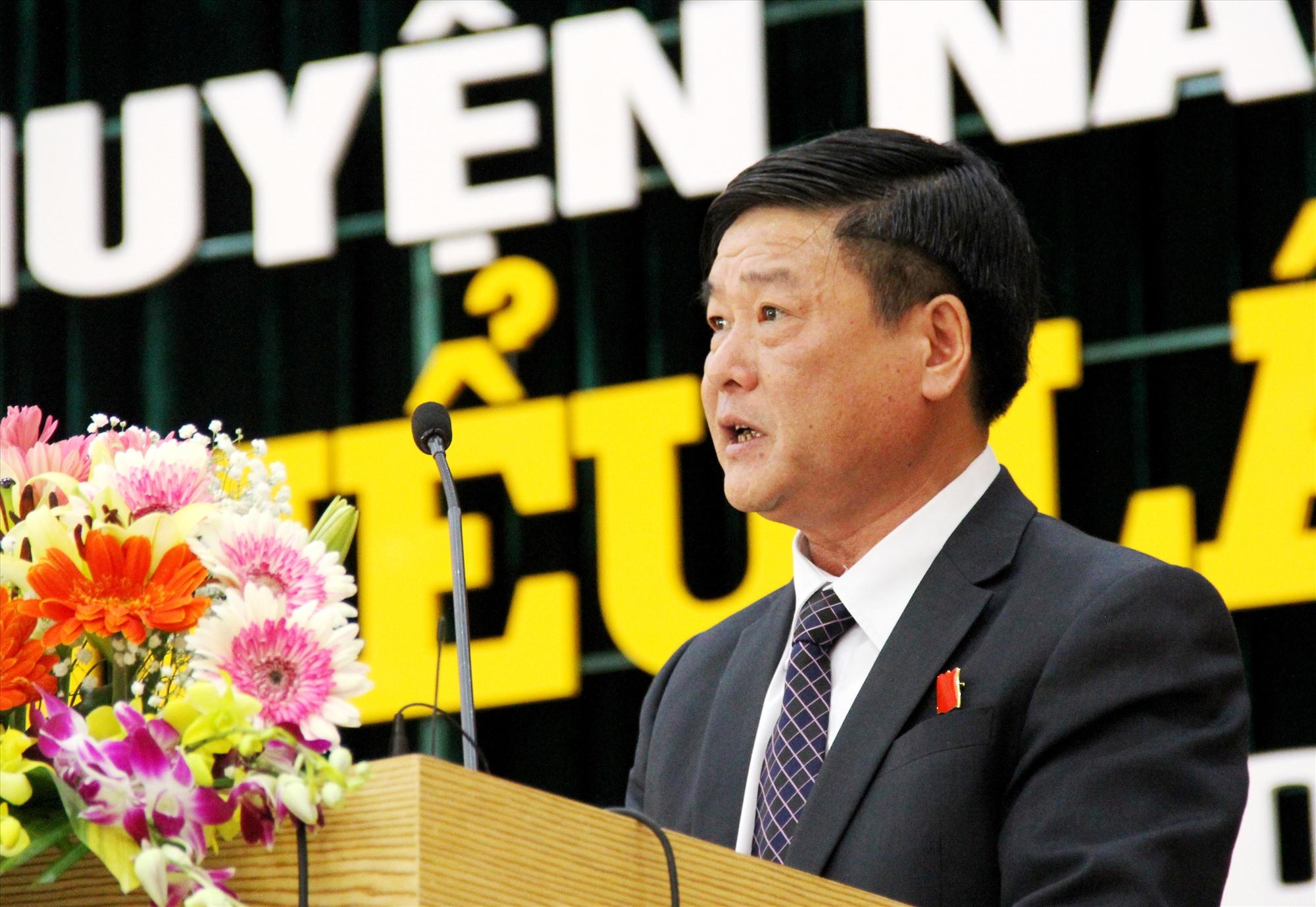 Ông Lê Văn Hường, tân Bí thư Huyện ủy Nam Giang nhiệm kỳ 2020 - 2025. Ảnh: A.N