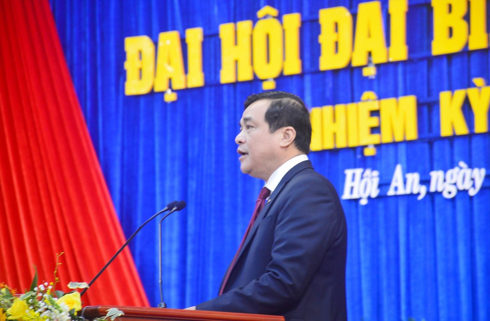 Bí thư Tỉnh ủy, Chủ tịch HĐND tỉnh Phan Việt Cường phát biểu chỉ đạo tại đại hội. Ảnh: Q.T