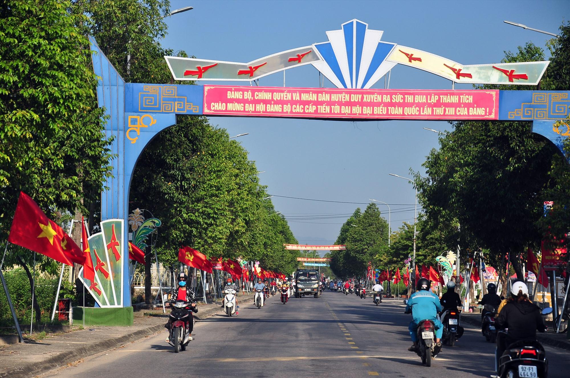 Diện mạo thị trấn Nam Phước (Duy Xuyên) ngày càng khang trang. Ảnh: VINH ANH