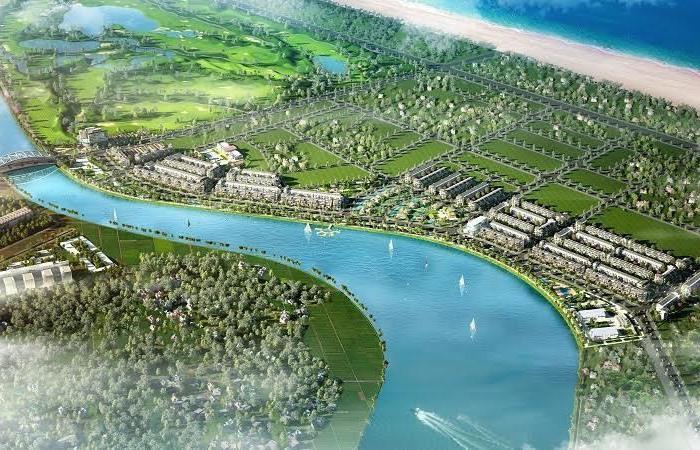 Phối cảnh Khu đô thị Ngọc Dương Riverside của Tập đoàn Đất Quảng đầu tư dọc sông Cổ Cò, quy mô 19,5ha, tổng mức đầu tư 185 tỷ đồng từ 2018 - 2019. Ảnh: V.S