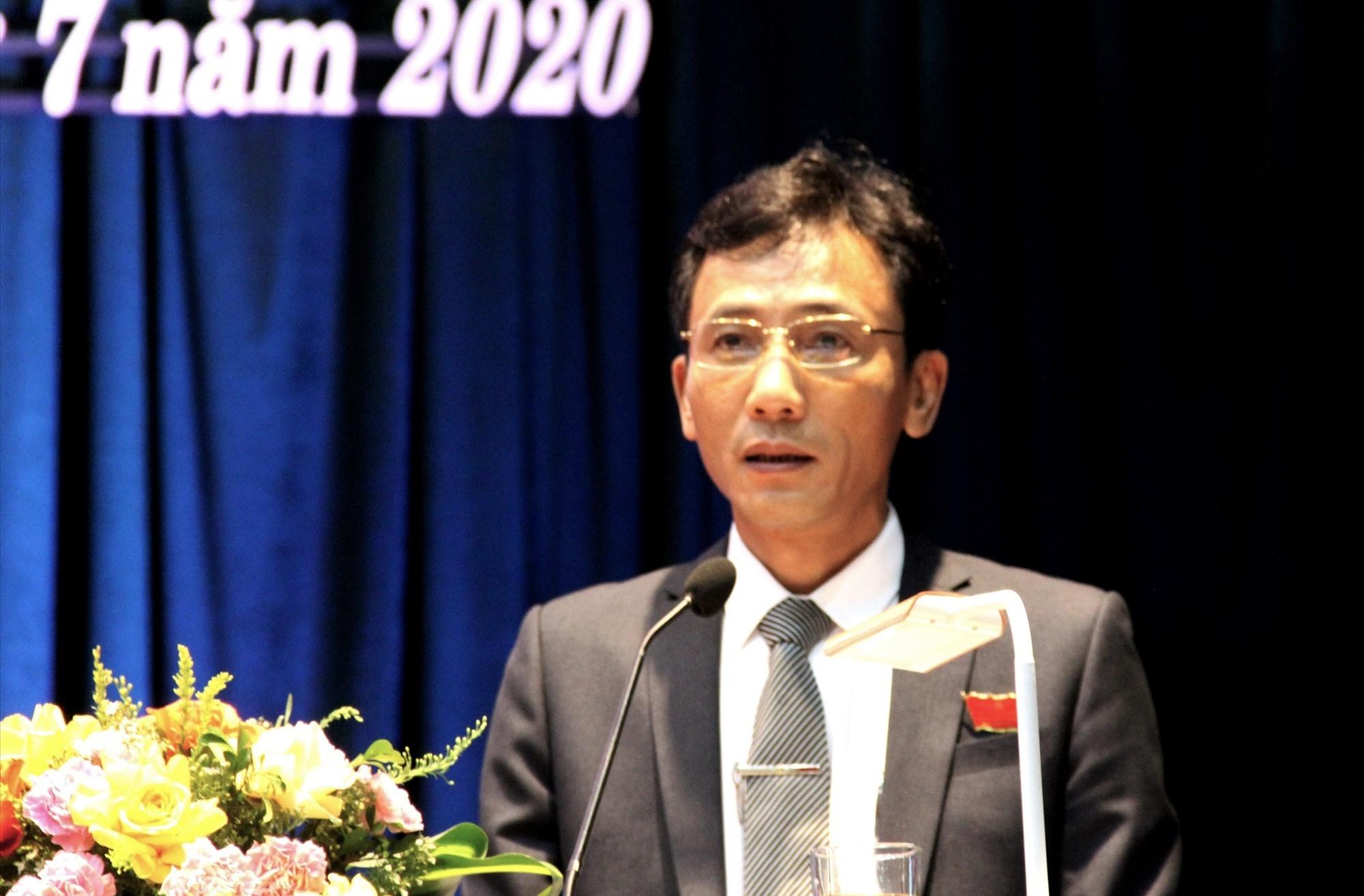Đồng chí Nguyễn Phi Thạnh tái đắc cử Bí thư Huyện ủy Phú Ninh khóa XXI (nhiệm kỳ 2020 - 2025). Ảnh: VINH ANH