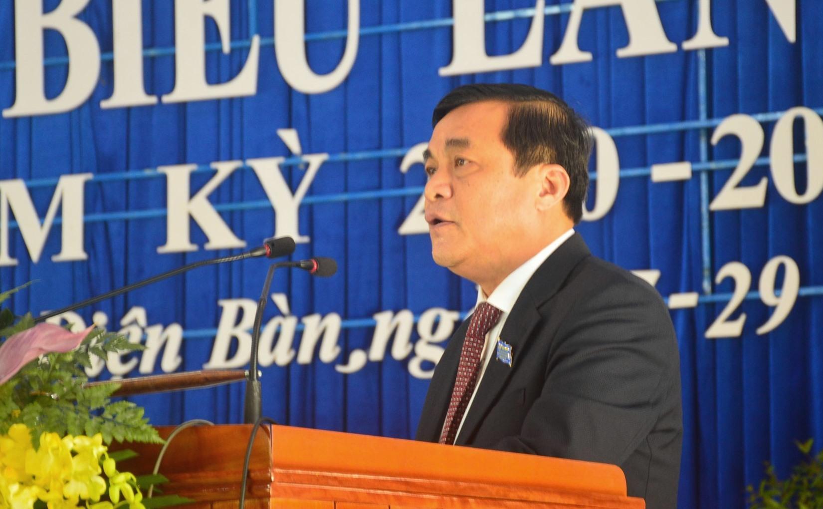 Bí thư Tỉnh ủy Phan Việt Cường phát biểu chỉ đạo tại đại hội. Ảnh: Q.T